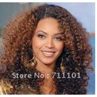 Indian hair asian curl - promotion afro jerry kinky curl indian human hair lace front wig