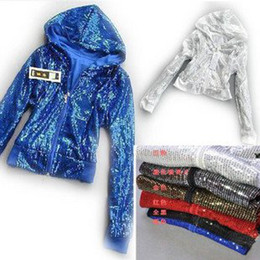 Wholesale Cheap long sleeve sequin Stage wear for women adult s performance ballroom Hip hop Wear Jazz Top