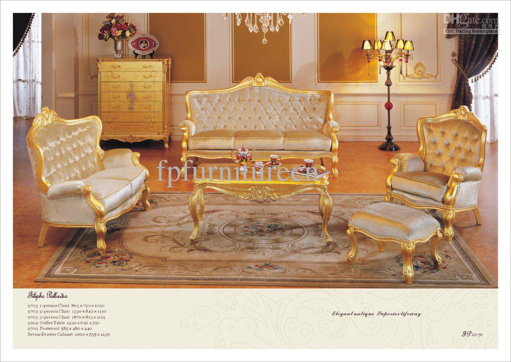 Versailles Sofa,classical Furniture for Home,baroque Golden Living ...