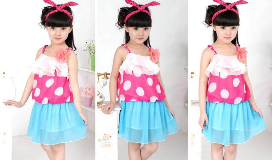 2017 New Model Summer Girl's Chiffon Dress Princess Dress ...