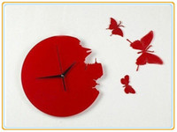 Wholesale butterfly wall clock wall High quality clock Decorative DIY Home decoration B241