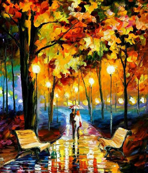 Oil Painting on Canvas Abstract Romantic Night Walking Home Decoration ...: www.dhgate.com/store/product/oil-painting-on-canvas-abstract...