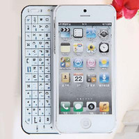 Wholesale 16pcs MINI NANO Slide out Wireless Bluetooth Qwerty Keyboard with Hard Case for iPhone S S