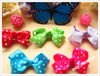 Wholesale Children s pretty bows inch Bowknot Hair Ribbon Made Girl s Hair Accessories for headband