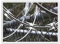 barbed wire - Razor barbed wire modern security fencing materials