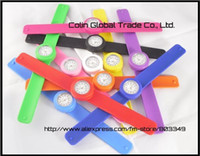 Wholesale kids slap watch colorful jelly silicone clap clock
