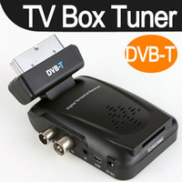 USB TV Tuners 欧标数字地面机顶盒 Scart TV Box Tuner DVB-T Digital Scart TV Box Tuner DVB-T Mini Freeview Remote Receiver Video HD TV Box