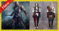 Wholesale Cheap Quality Kids Assassin s Creed III Ezio Edition Costumes Chic Khaki Custom Cosplay FreeShipping
