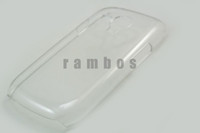 Plastic For Samsung  500pcs lot Ultra thin Clear Hard Case Transparent Case Cover for Samsung Galaxy S3 Mini i8190