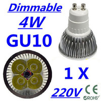 Wholesale 1X High power CREE GU10 x1W W V Dimmable Light lamp Bulb LED Downlight Led Bulb Warm Pure Cool