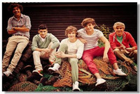 Wholesale 20 One Direction Pop Music Group Silk Canvas Poster Star hot Art Decorative Painting x13 quot