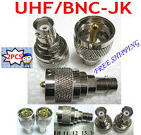 Wholesale UHF male plug to BNC female jack RF coaxial adapter connector