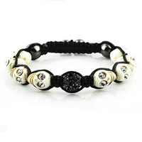 Wholesale 10pcs Mixed Skull adjusted Bracelet New Skull Turquoise Beads with Crystal Beads Top Sale