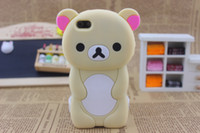 Wholesale 20pcs Cheap Design Rilakkuma Case Without Logo Soft Silicon Case Cover for touch Free Ship