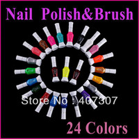 Wholesale 24 Colors Ways Nail Art Brush amp Nail Pen Varnish Polish Nail Tools Set