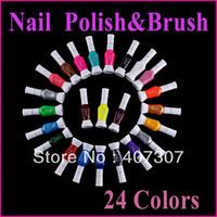 Pinks Nail Polish Magnetic 24 Colors 2- Ways Nail Art Brush & Nail Pen Varnish Polish Nail Tools Set