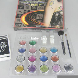 Wholesale Pro Body Painting Tattoo Deluxe Kit Color Supply Kit Body Art Kit BALK15
