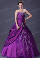 Stock Quinceanera Dress Ball Gown Strapless Wedding Evening ...