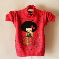 Wholesale baby girls sweater kids long sleeve children Pullover girls bike sweater B