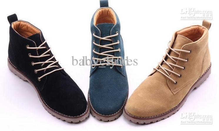 New Men Tide Short Boots Martin Boots Man British Fashion Boot ...