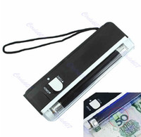 Wholesale 2 In UV Black Light Handheld Torch Portable Fake Money ID Detector Lamp Tool