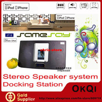 Wholesale DHL dock station speaker for iPod iPhone with aliarm clock radio Charging do