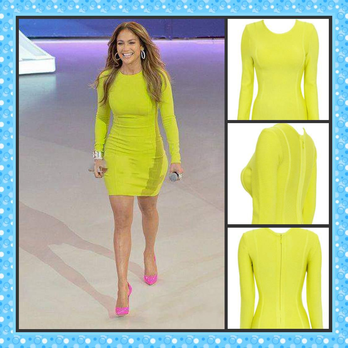 New Arrival 2013 Cocktail Dress Sheath Long Sleeve 'carly' Lime ...