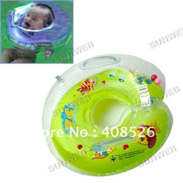 Wholesale New Plastic Baby Kids Infant Adjustable Swimming Neck Float Ring Safety Green Orange