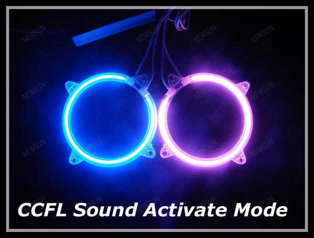 Car CCFL Interior Exterior Neon Sound Activate Neon Ring Tube auto