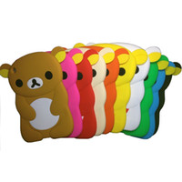Wholesale For Apple iPad Mini Case Soft Rubber Silicone Gummy Case Cover Cute teddy bear DHL Ship