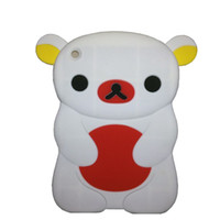 Wholesale For Apple iPad Mini Case Soft Rubber Silicone Gummy Case Cover Cute teddy bear DHL Shipping