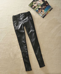 Wholesale CHIC Elasticity SLIM FIT PU Leather PANT