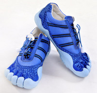 Wholesale Lovers Fashion Blue Anti fur Five fingers shoes Sports shoes Size
