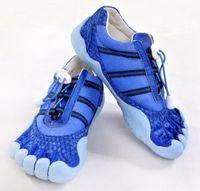 Wholesale Lovers Fashion Blue Anti fur Five fingers shoes Sports shoes Size