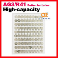 Wholesale 100pcs AG3 L736 LR41 battery Alkaline Button Battery Cell Coin Battery v mAh watch Man