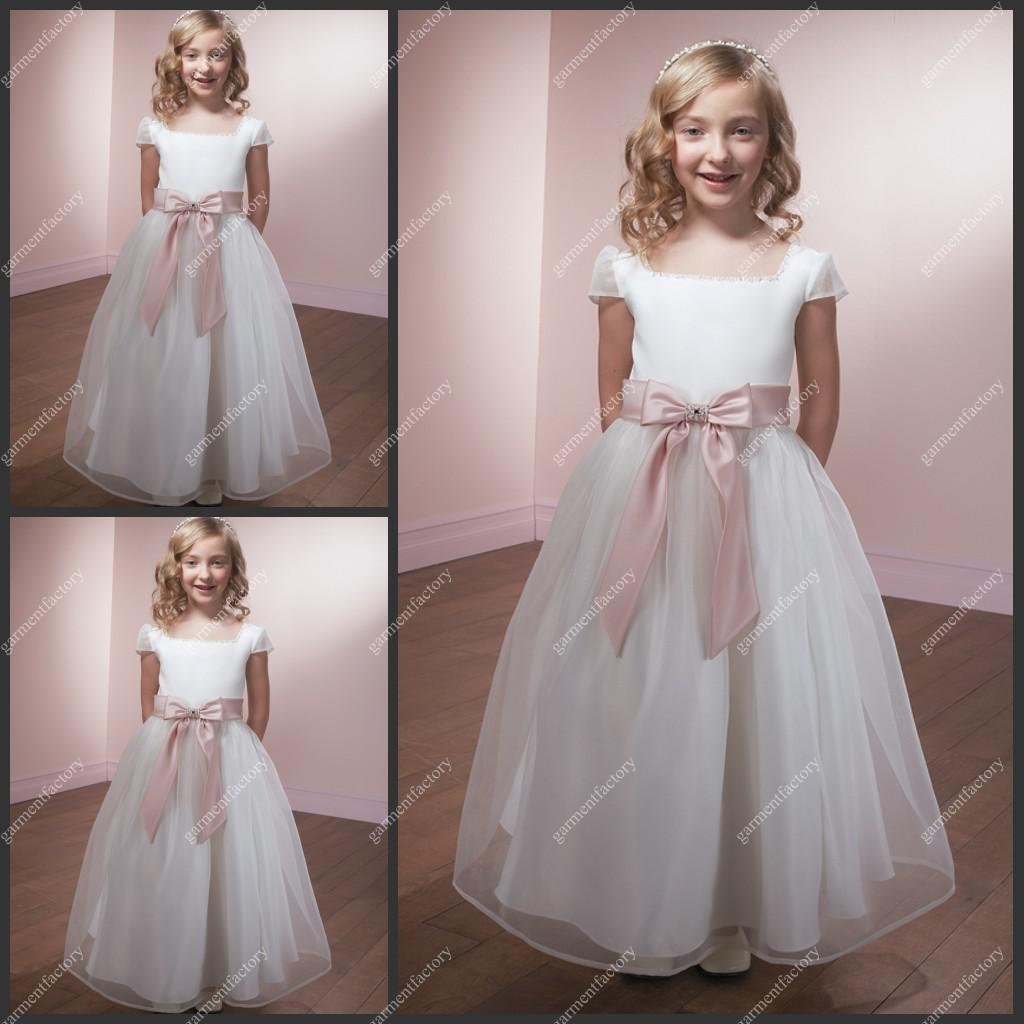Pink Flower Girl Dress Patterns Online | Pink Flower Girl Dress ...