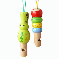 Wholesale interesting music Colourful educational toys enlighten Wooden Whistle building blocks child baby