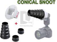achat en gros de snoot nid d'abeille-Snoot conique métal nid d'abeille Studio Flash CA-4 adaptateur pour Canon 580EX 550EX PD012B