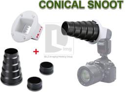Snoot nid d'abeille en Ligne-Snoot conique métal nid d'abeille Studio Flash CA-4 adaptateur pour Canon 580EX 550EX PD012B
