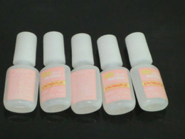 Wholesale 5Pcs g False Nail Art Glitter Acrylic Glue with Brush Fast Drying Nail Glue for Nail Salon