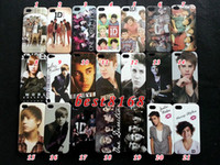 Wholesale One direction one band justin bieber Hard plastic Case skin cases For iphone th G S