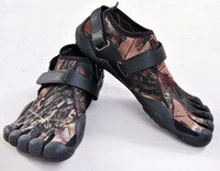 Wholesale Fahion Camouflage Diving material Lovers shoes breathable Climbing Five fingers shoes Sports shoes reduce beriberi foot shaped Size