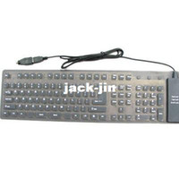 Wholesale 109keys Flexible Mini Silica Gel Keyboard
