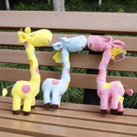 Wholesale Giraffe Stuffed Animals Plush Toys cartoon figure dolls birthday gift cm