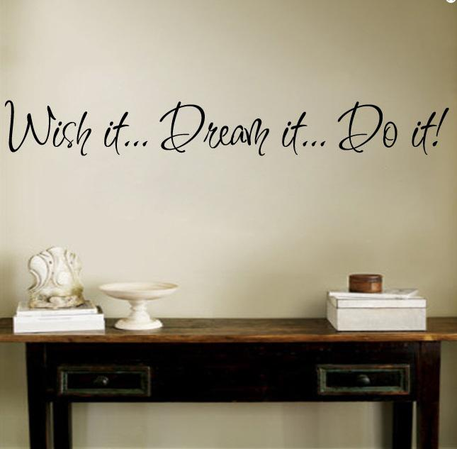 Wall Decals Dream Quotes Dream it do it Wall Decal