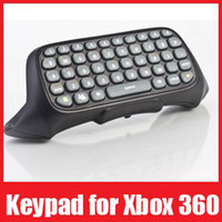 For NDS Wireless Controller Shock Free shipping+Retail box, Black Messenger Text Chat Pad ChatPad Keyboard Keypad for Xbox 360 Control