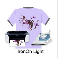 Wholesale A4 Inkjet Heat Iron On T Shirt Light Colour Transfer Paper