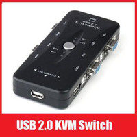 Wholesale New Portable USB KVM Ports Selector VGA Print Auto Switch Box V322