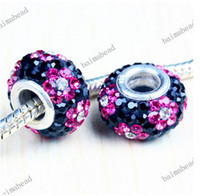 Oval Circle MIX COLORS 26 Colors flowers Crystal 925 Silver European Loose Bead for pandora charm bead 500pcs lot WX091