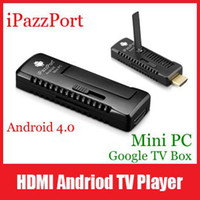Wholesale N48 iPazzPort HDMI Andriod P Smart TV Player Google Box Stick Set Top Box Support Voice